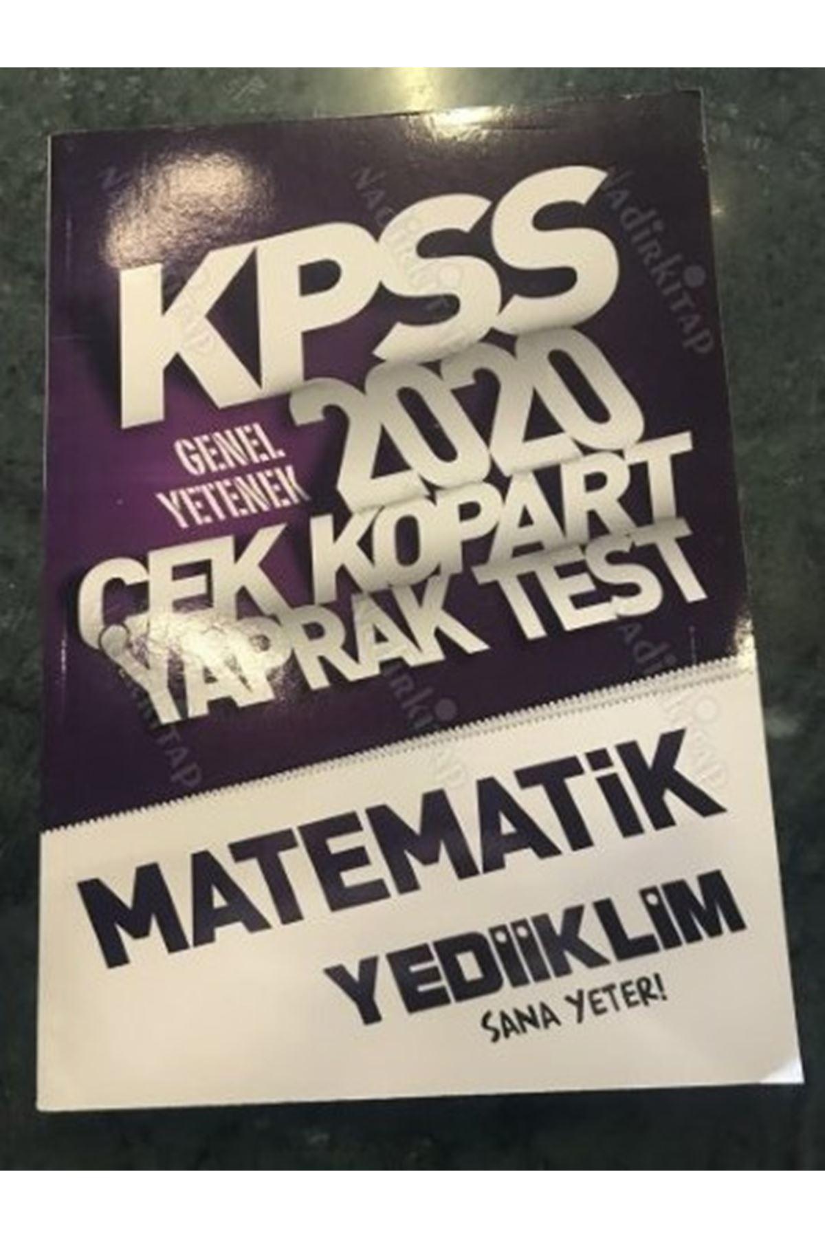KPSS 2020 ÇEK KOPART YAPRAK TEST MATEMATİK