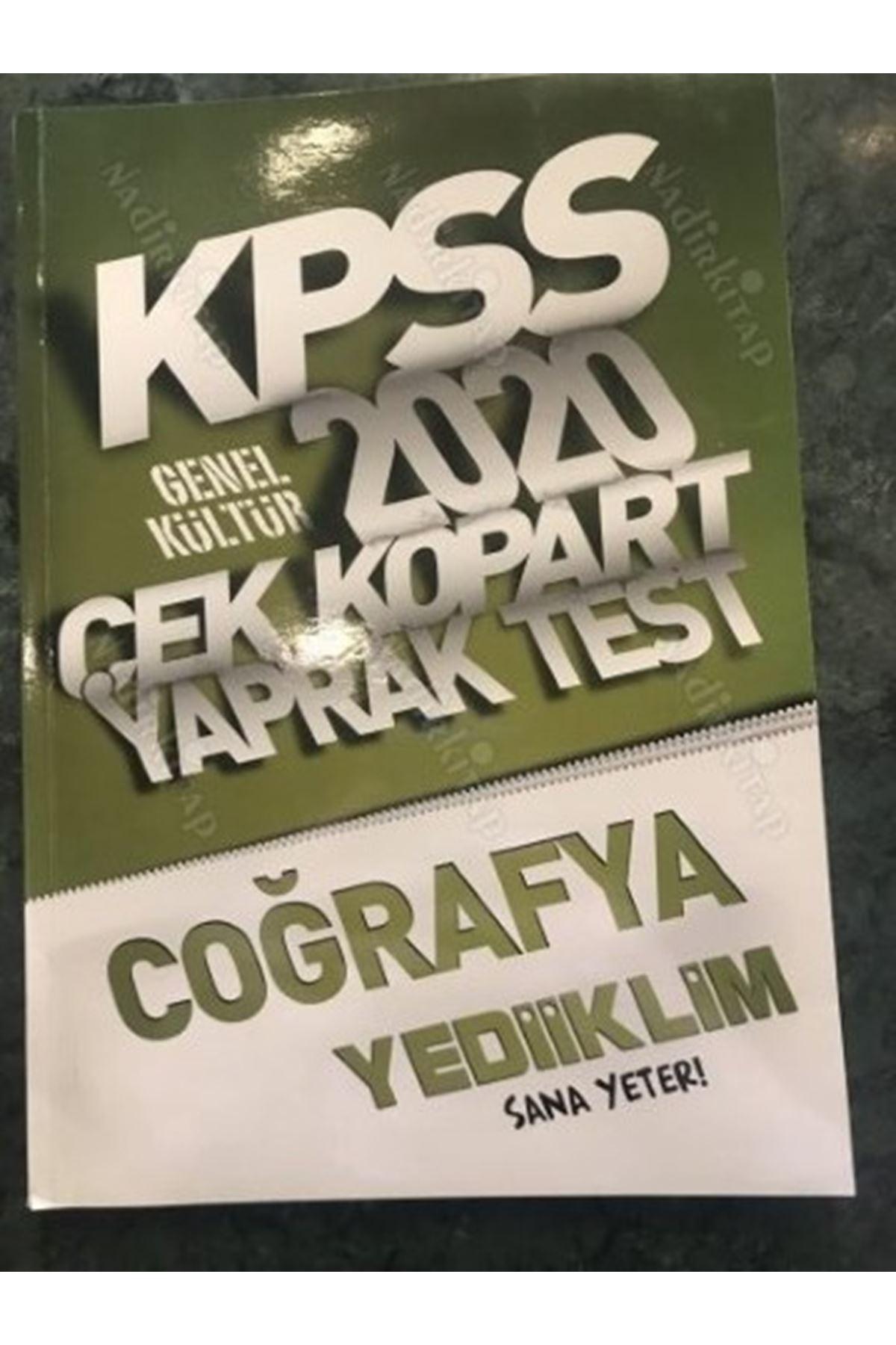 KPSS 2020 ÇEK KOPART YAPRAK TEST COĞRAFYA