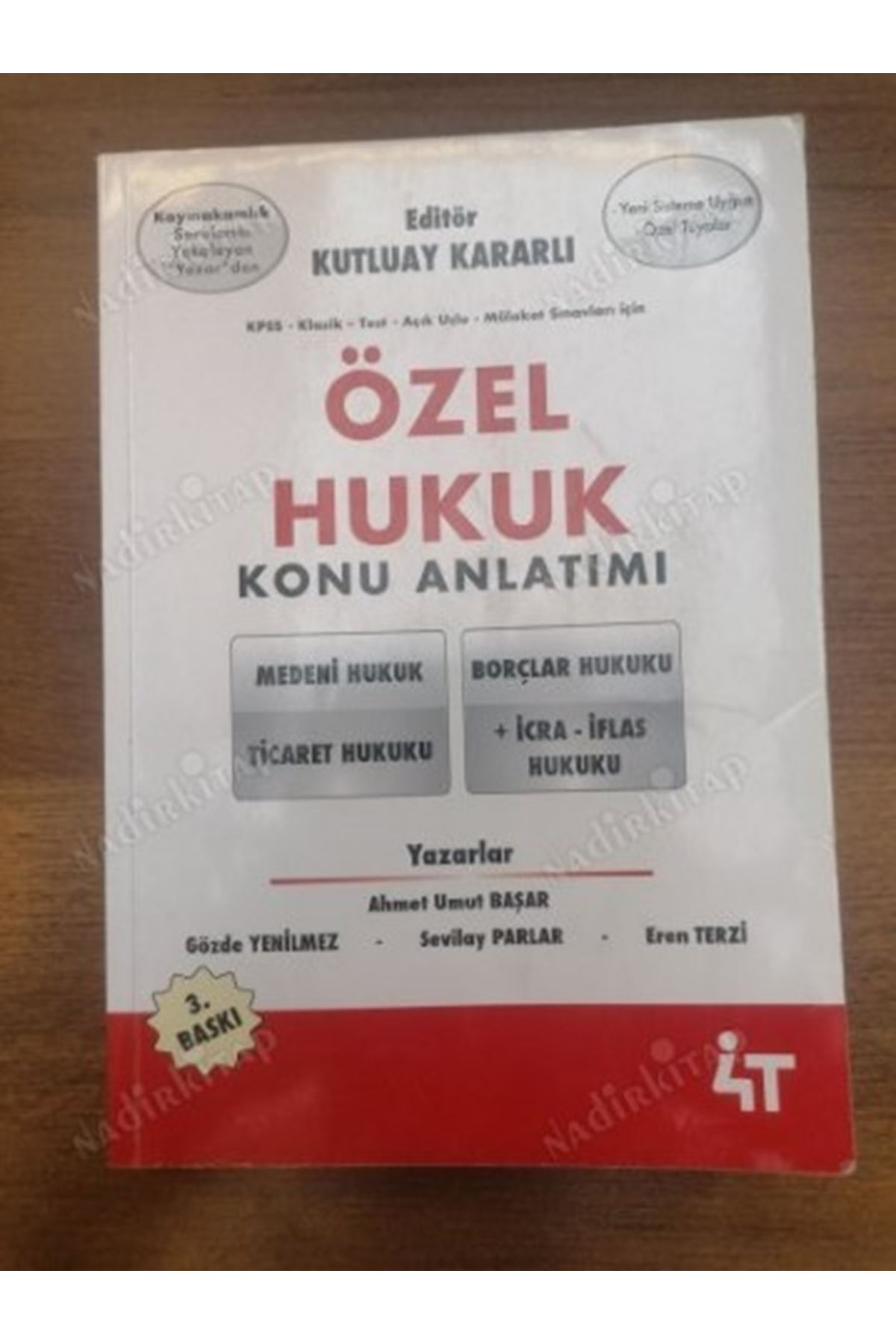 KUTLUAY KARARLI - ÖZEL HUKUK KONU ANLATIMLI